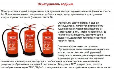 Водные огнетушители описание