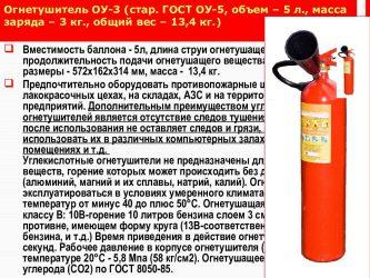 Срок эксплуатации огнетушителя ОП 5