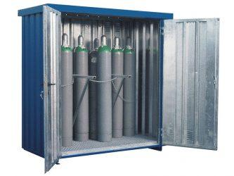 Хранение кислородных баллонов на открытом воздухе