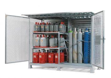 Хранение газовых баллонов на стройплощадке
