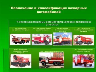 Как классифицируются пожарные автомобили?
